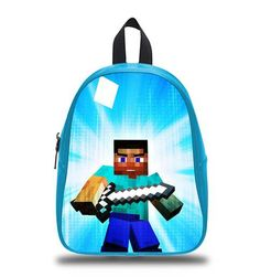 Minecraft Steve Act Bag Backpack Kids Boy Girl Schoolbag sold by Dcustom. Shop more products from Dcustom on Storenvy, the home of independent small businesses all over the world.