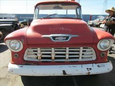 1955 Chevy truck BIG window long bed Original truck according to Vin : Needs new front and back window ( 400 euros in EU) Good base for resto Price is Eu taxes paid and with us title Will arive in April 2013 Chevy Pickup Trucks, Classic Chevy Trucks, Gm Trucks, Classic Cars, 1955 Chevy, 1955 Chevrolet, Chevrolet Trucks, Chevy Pickups For Sale, Chevy Trucks For Sale