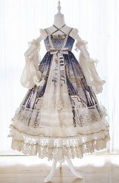 Bramble Rose -The Floating City- Vintage Classic Lolita JSK,Lolita Dresses, Cosplay Dress, Cosplay Outfits, Kawaii Fashion, Lolita Fashion, Old Fashion Dresses, Fashion Outfits, Pretty Dresses, Beautiful Dresses, Mode Lolita