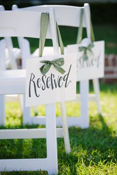 Wedding Reserved Signs The Effective Pictures We Offer You About wedding details vintage A quality p Wedding Ceremony Ideas, Ceremony Seating, Wedding Signage, Wedding Seating, Diy Wedding, Wedding Events, Rustic Wedding, Wedding Day, Dream Wedding