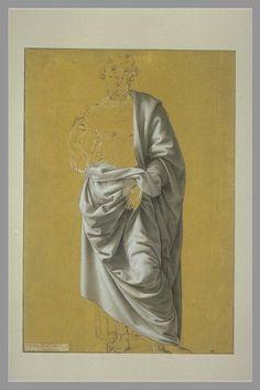 Inventaire du département des Arts graphiques - Etude de draperie pour la figure de saint Barthélemy - SCIARPELLONI Lorenzo