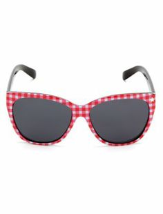 Abbey Dawn Red and White Picnic Print Sunglasses  £24.99