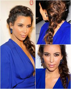 Celebrities' Looks – Kim Kardashian Best Braided Hair Styles 2014 with Remy Human Hair Extensions