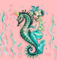 Vintage Mermaid, Mermaid Art, How To Draw Mermaid, Mermaid Pics, Siren Mermaid, Mermaid Paintings, Mermaid Pictures, Pink Art, Blue Art