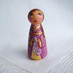 Christmas angel doll wooden angel ornament noel by UnderAngelWings
