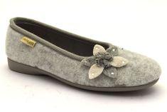 GRUNLAND DEAR PA1109 55 GRIGIO Pantofole Panno Invernali Ballerine Scarpe  Donna e60b10e5821