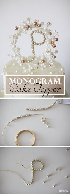 To cut wedding costs, you can easily DIY your own traditional monogram cake topper. This tutorial shows you step by step how to do it! http://www.ehow.com/how_4830456_own-monogram-cake-topper.html?utm_source=pinterest.com&utm_medium=referral&utm_content=inline&utm_campaign=fanpage