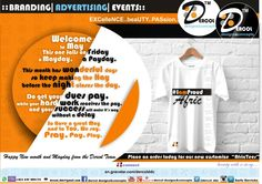 # Dercol # bRANDING # aDVERTISING # eVENTS HAPPY NEW MONTHS AND MAY DAY TO YOU OUR LOVELY CLIENTS, FRIENDS, PARTNERS,. ORDER FOR OUR NEW AFRICTEES in digital prints. MOTHERS day EDITION COMING soon remember to suprise your mom with a worderful tees on 10th May, 2015 ,mothers day. PLACE AN ORDER TODAY dercol.ddc@gmail.com May Days, New Month, Happy New, Digital Prints, Mothers, Advertising, Branding, Events, Mom