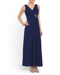 Pleat Bodice Gown