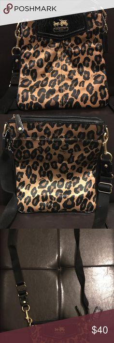 Cheetah Coach Crossbody Like new Cheetah Coach Crossbody Coach Bags Crossbody Bags
