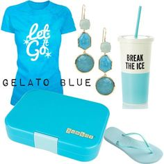 Gelato Blue Yumbox. The perfect summer accessory for lunches, snacks, picnics and trips.