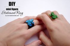 How to make a mini figure statement ring. Step by step fashion tutorial created by Xenia Kuhn for fashion and lifestyle blog www.fashionroll...
