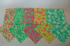 """30 5"""" Pre-cut Fabric Squares - Charm Pack - Coordinating Colors - Spring House by Stephanie Ryan for Moda - Fabric - Quilting"""