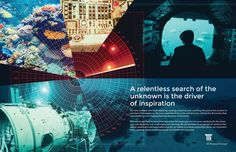 A relentless search of the unknown - print ad for M Financial Group. #design #inspiration