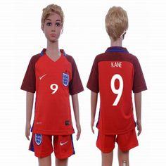 2016 England Team KANE #9 red kid soccer jersey away