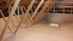 Attic flooring in a truss style home