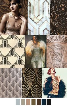 A/W 2016-17 COLORS + PATTERN TREND : Art Deco