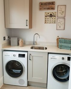 [New] The 10 Best Home Decor (with Pictures) - This is the utility room from the Cambridge showhome on our development. I'm so excited to have a space like this Decor Interior Design, Interior Decorating, Redrow Homes, Utility Room Storage, David Wilson Homes, Barratt Homes, Cambridge House, Basement Kitchen, Marlow