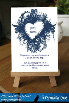 Personalized pet sympathy gift