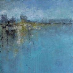 """Breath of Air"" oil and cold wax, 30 x 30 clayroadstudio.com"
