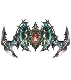 Junto com as novas atualizações, os jogadores de Lineage 2 tem 32 novas armas a sua escolha. Confira abaixo as imagens de todas as novas arm... Fantasy Sword, Fantasy Weapons, Fantasy Art, Shield Icon, Dc Super Hero Girls, Skull Logo, Dragon Pictures, Wings Design, Game Icon