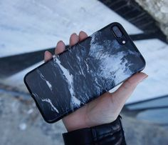 Black and white ⚪️◼️ Black Marble Case for iPhone 7 & iPhone 7 Plus from Elemental Cases