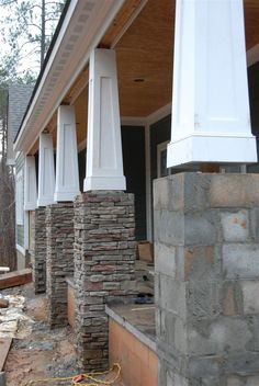 Stone columns for Homes | tapered columns; Centurion Stone > Ledge > Pennsylvania