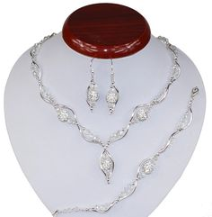 BIŻUTERIA ŚLUBNA KOMPLET ŚLUBNY wieczorowy posrebrzany kryształki ab cyrkonie   KP229 Jewelry, Armband, Jewlery, Jewels, Jewerly, Jewelery, Accessories