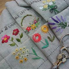 #Embroidery#stitch#needlework#stitch book #프랑스자수#일산프랑스자수#자수#자수타그램#기본스티치북 #스티치 북 완성하기~