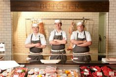 Butcher with product