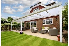 Discover our veranda range! Choose from a variety of contemporary roof styles. Request a FREE quote for your glass or polycarbonate veranda. Aluminum Gazebo, Concrete Posts, Custom Canopy, Polycarbonate Panels, Outdoor Heaters, Alfresco Area, Urban Decor, Garden Canopy, Roof Styles