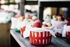 Fresh apples from a producer, harvest - Fresh apples in a baskets.