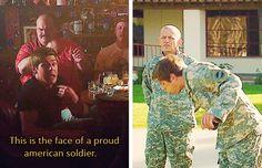 Proud American soldier
