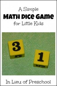 A Super Simple Math Dice Game: Which is Bigger?
