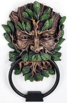 This is one of my favorites on Wiccan Supplies, Witchcraft Supplies & Pagan Supplies Experts-Eclectic Artisans: Greenman Door Knocker