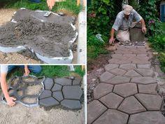 Molde de estrada de pedra para jardins - Em Coma