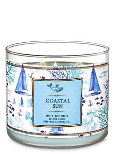 Shop Coastal Sun Candle at Bath And Body Works! Fill your home with the most irresistible, beautiful fragrance today. Bath Candles, 3 Wick Candles, Scented Candles, Body Works, It Works, Nautical Pattern, Bath And Bodyworks, Smell Good, Candle Making