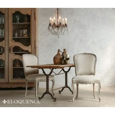 Eloquence Colette Dining Chair in Beach House Natural $754.00 #thebellacottage #shabbychic