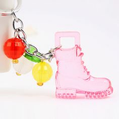 HS010-Candy-cute-key-chain-Transparent-high-heels-style-keychain-Free ...