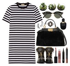 """""""OUCH"""" by shanelala ❤ liked on Polyvore featuring Fendi, Michael Kors, Balmain, Maybelline, Ray-Ban, Trish McEvoy, Alexander McQueen, Cathy Waterman and NARS Cosmetics"""