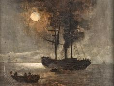 Andreas Achenbach ~ The Dusseldorf School of painting Woodland Art, Dark Images, Art For Art Sake, Sculpture, Steamer, Landscape Paintings, Ship Paintings, Landscapes, Dark Art
