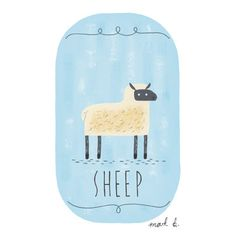Hey, I found this really awesome Etsy listing at https://www.etsy.com/listing/150967396/sheep-6x4-painting-available-in-pink