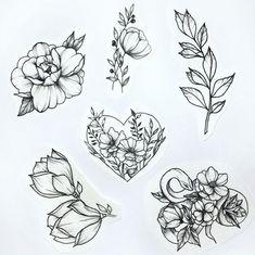 flowers butterflies tattoo Roses is part of Inspiring Butterfly And Rose Tattoos Askideas Com - Desenhos de Flores +De 120 Modelos Tatuagens Ideias Tattoos Skull, Cute Tattoos, Leg Tattoos, Beautiful Tattoos, Body Art Tattoos, Sleeve Tattoos, Flower Tattoo Designs, Flower Tattoos, Tattoo Girls