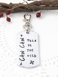 Tula In The Wild Caw Caw TITW Hand Stamped by JulessJewels on Etsy