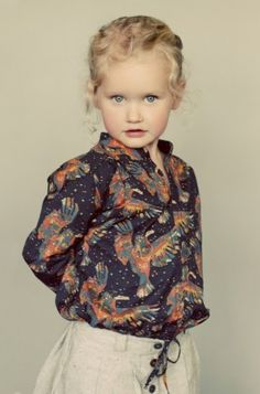 I am pinning this not so much for the outfit but because that is one seriously gorgeous little girl.