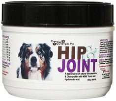 Pure  Simple Pet Hip and Joint Supplement for Dogs 400gm ** You can find more details by visiting the image link. This is an Amazon Affiliate links.