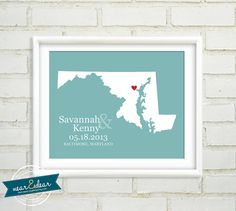 Wedding Map   Custom Wedding Map Print  8x10 by NearAndDearDesigns, $24.00