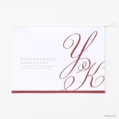 結婚式 招待状 Initial / レッド 1