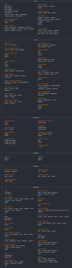 CSS cheat sheet containing backgrounds, borders, fonts, texts and many other categories. Whether you are a professional web developer or just starting out with CSS, this cheat sheet helps you to enhance your workflow. Learn Computer Coding, Computer Programming, Computer Science, Basic Programming, Html Cheat Sheet, Cheat Sheets, Web Design Tips, Tool Design, Estilos Css