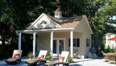10x20 Poolhouse with 10' Overhang (6-Pitch Roof) #12130
